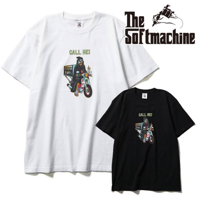 SOFTMACHINE(ソフトマシーン) REAPER EATS-T(T-SHIRTS) 【Tシャツ 半袖】【ブラック ホワイト タトゥー】【2021 SUMMERVACATION新