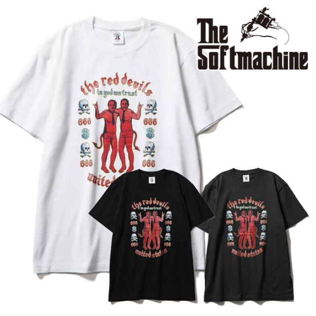SOFTMACHINE(ソフトマシーン) RED DEVILS-T(T-SHIRTS) 【Tシャツ 半袖】【ブラック ホワイト グレー タトゥー】【2021 SUMMERVACAT