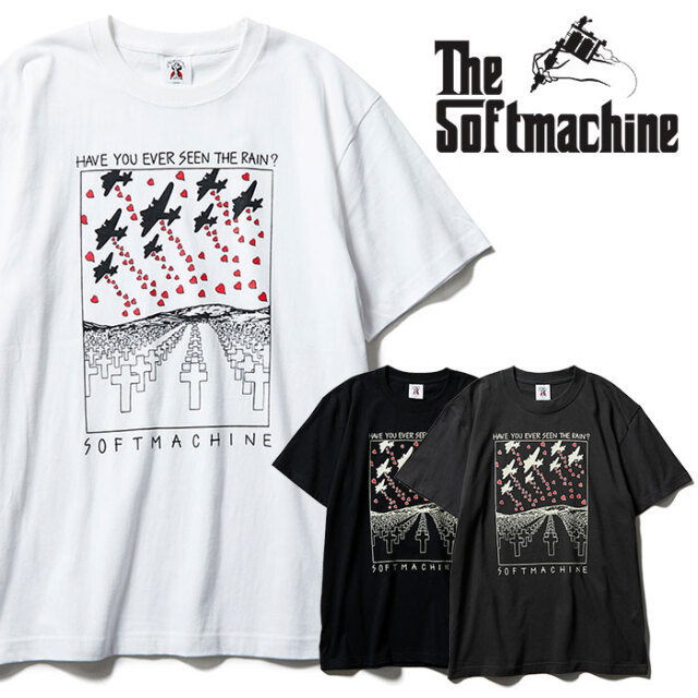 SOFTMACHINE(ソフトマシーン) RED RAIN-T 【Tシャツ 半袖】【ブラック ホワイト チャコール タトゥー】【2021 SPRING&SUMMER先行予