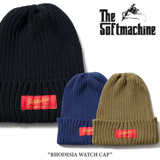 SOFTMACHINE(ソフトマシーン) RHODESIA WATCH CAP(KNIT CAP) 【2018SPRING/SUMMER先行予約】 【キャンセル不可】 【SOFTMACHINE