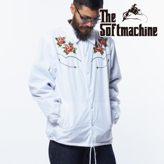 SOFTMACHINE (ソフトマシーン)  RODEO JK 【コーチジャケット】【ブラック ホワイト タトゥー】【2021 AUTUMN&WINTER 新作】
