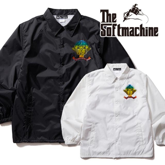 SOFTMACHINE (ソフトマシーン)  SAD FATE JK 【コーチジャケット】【ブラック ホワイト タトゥー】【2021 AUTUMN&WINTER 新作】