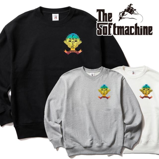 SOFTMACHINE (ソフトマシーン)  SAD FATE SWEAT 【スウェット】【ブラック ホワイト グレー タトゥー】【2021 AUTUMN&WINTER 先行