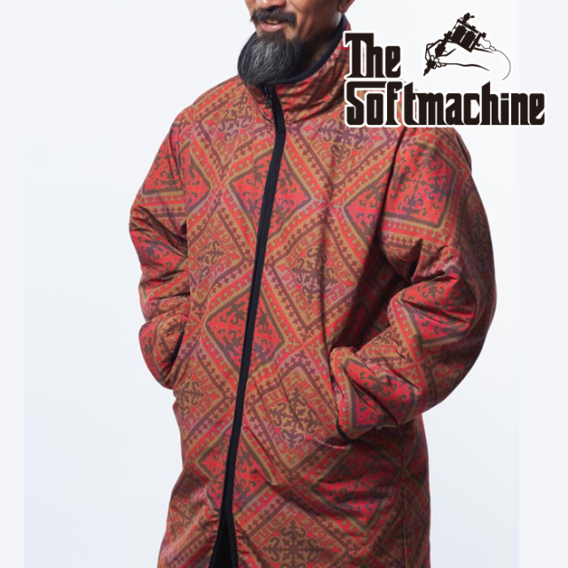 SOFTMACHINE(ソフトマシーン) SARY COAT 【ボアコート】【ブラック オリーブ タトゥー】【2021 AUTUMN&WINTER 先行予約】【キャン