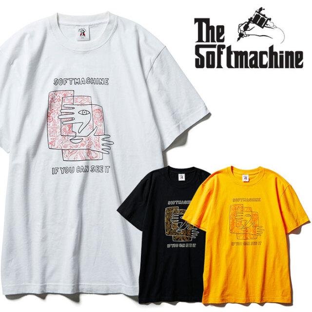 SOFTMACHINE(ソフトマシーン) SEE IT-T 【Tシャツ 半袖】【ブラック ホワイト イエロー タトゥー】【2021 SPRING&SUMMER先行予約】