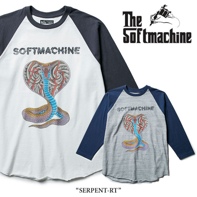 【SALE】 SOFTMACHINE(ソフトマシーン) SERPENT-RT (3/4 RAGLAN T-SHIRTS) 【2018SPRING/SUMMER新作】 【即発送可能】 【SOFTMA