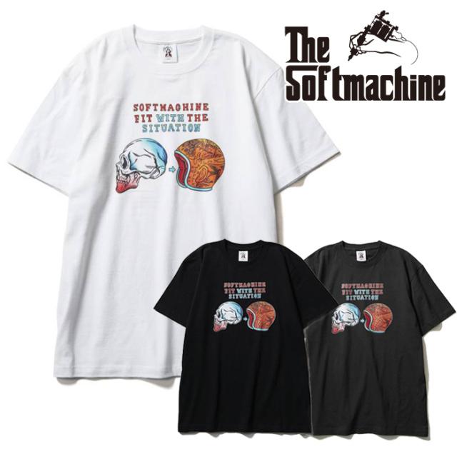 SOFTMACHINE(ソフトマシーン) SITUATION-T(T-SHIRTS) 【Tシャツ 半袖】【ブラック ホワイト チャコール タトゥー】【2021 SUMMERVA