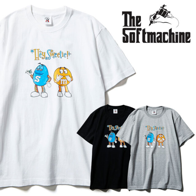 SOFTMACHINE(ソフトマシーン) S&M-T 【Tシャツ 半袖】【ブラック ホワイト グレー タトゥー】【2021 SPRING&SUMMER先行予約】【キ