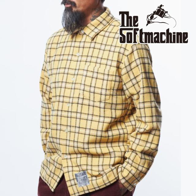 SOFTMACHINE (ソフトマシーン)  SOUTHERN SHIRTS 【シャツ 長袖】【オレンジ イエロー グリーン タトゥー】【2021 AUTUMN&WINTER