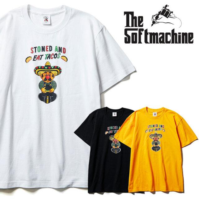 SOFTMACHINE(ソフトマシーン) STONED-T 【Tシャツ 半袖】【ブラック ホワイト イエロー タトゥー】【2021 SPRING&SUMMER先行予約】