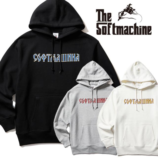 SOFTMACHINE(ソフトマシーン) St.PETERSBURG HOODED 【フーディー パーカー】【ブラック ホワイト グレー タトゥー】【2021 AUTUMN