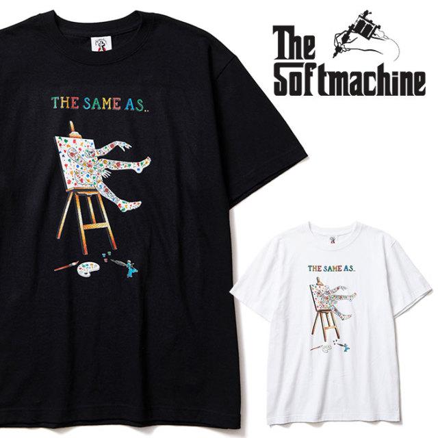 SOFTMACHINE(ソフトマシーン) THE SAME AS-T 【Tシャツ】【ホワイト ブラック タトゥー】【2020SPRING&SUMMER先行予約】【キャンセ