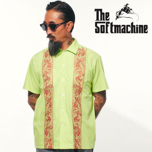 SOFTMACHINE(ソフトマシーン) TIGER CLIFF SHIRTS 【シャツ 半袖】【グレー イエロー グリーン タトゥー】【2021 SPRING&SUMMER先