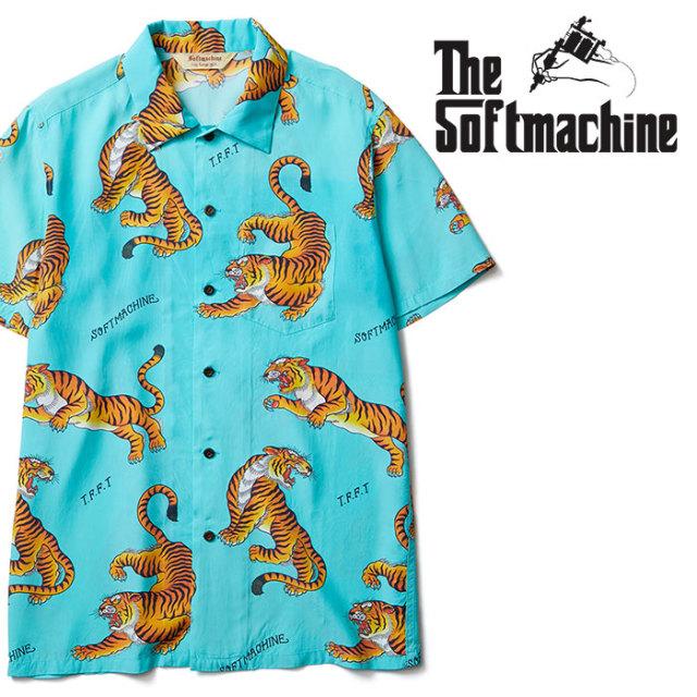 SOFTMACHINE(ソフトマシーン) TIGERS GARDEN SHIRTS S/S 【ショートスリーブシャツ】【ブルー タトゥー】【送料無料】 【2020SPRI