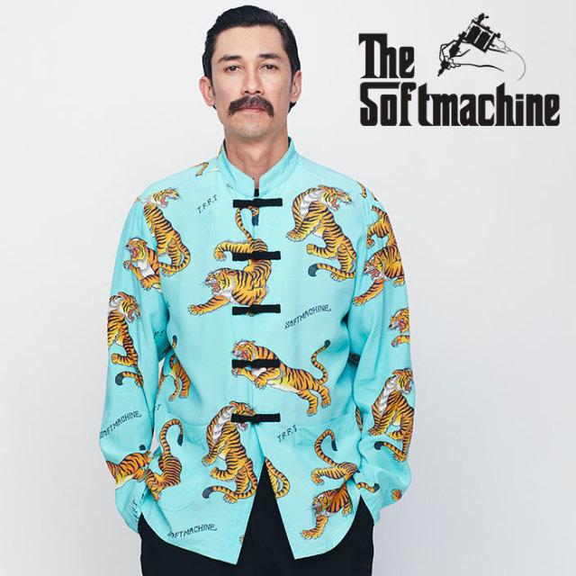SOFTMACHINE(ソフトマシーン) TIGERS GARDEN MAO JK 【マオジャケット】【ブルー タトゥー】【送料無料】 【2020SPRING&SUMMER先