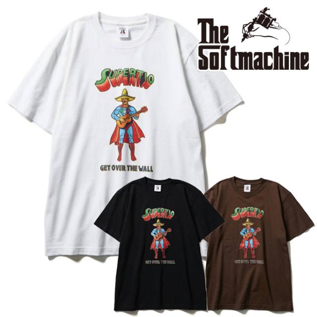 SOFTMACHINE(ソフトマシーン) TIO-T(T-SHIRTS) 【Tシャツ 半袖】【ブラック ホワイト ブラウン タトゥー】【2021 SUMMERVACATION先