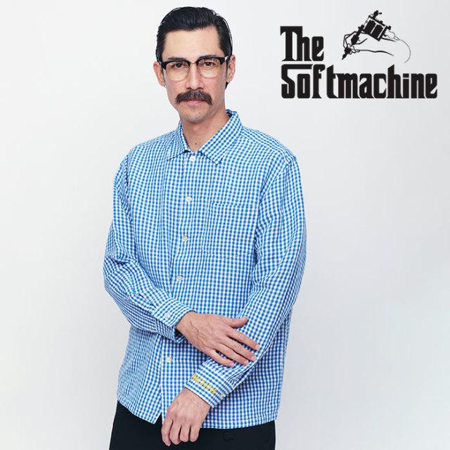 SOFTMACHINE(ソフトマシーン) TONY SHIRTS 【ロングスリーブシャツ】【ブラック ブルー タトゥー】【送料無料】 【2020SPRING&SUM