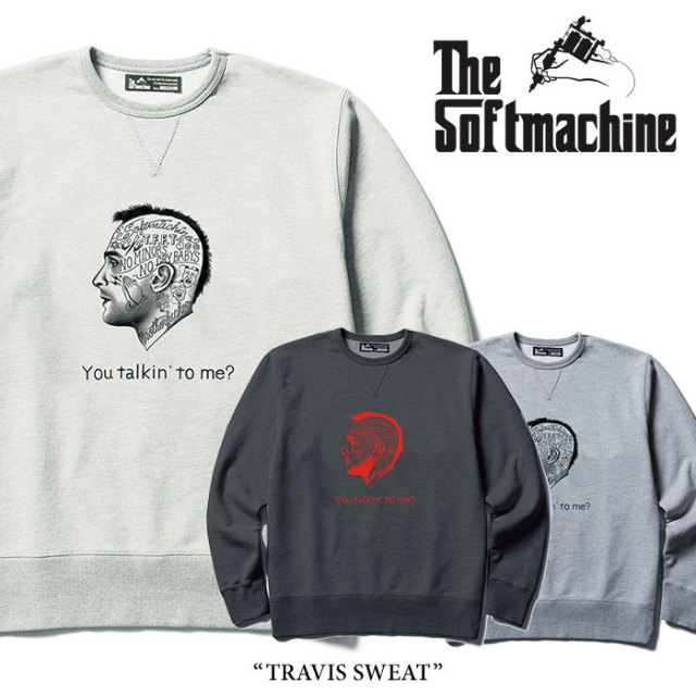 【SALE】 SOFTMACHINE(ソフトマシーン) TRAVIS SWEAT(CREW NECK SWEAT) 【2018SPRING/SUMMER新作】