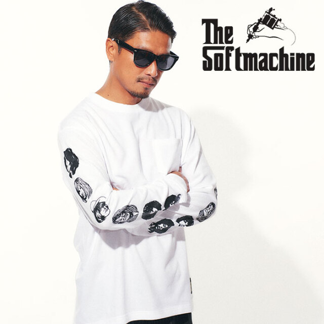 SOFTMACHINE(ソフトマシーン) TWENTY SEVEN L/S 【ロングスリーブTシャツ 長袖Tシャツ】【ホワイト グレー レッド タトゥー】【202