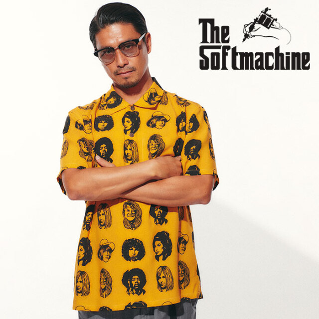 SOFTMACHINE(ソフトマシーン) TWENTY SEVEN SHIRTS S/S 【シャツ 半袖】【ブラック ブルー タトゥー】【2021 SPRING&SUMMER先行予