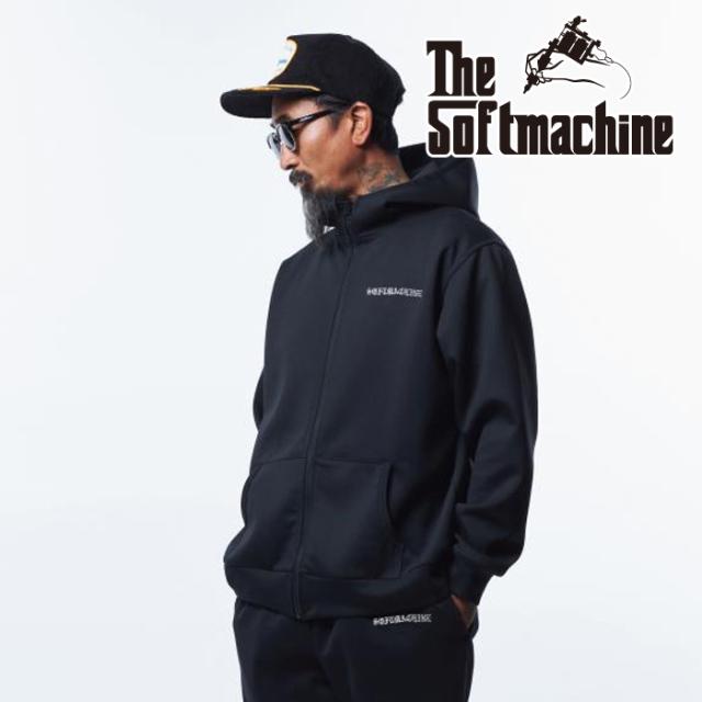 SOFTMACHINE(ソフトマシーン) VATOS FLEECE HOODED 【フーディー パーカー】【ブラック グレー タトゥー】【2021 AUTUMN&WINTER