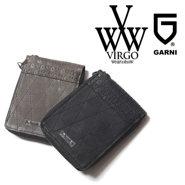 VIRGO ヴァルゴ バルゴ VIRGOwearworks×GARNI LABYRINTH FOLDING WALLET 【2018-19HOLIDAY/SPRING新作】 【VG-CB-76】