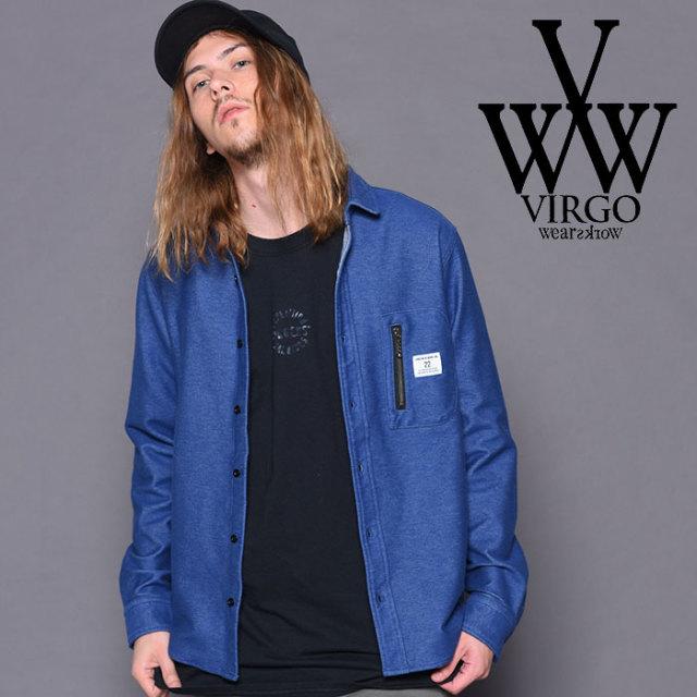 VIRGO(ヴァルゴ) STRETCH DENIM SHIRTS 【2018-19HOLIDAY/SPRING先行予約】 【VG-SH-197】【キャンセル不可】