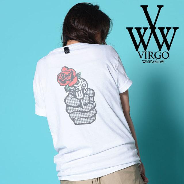VIRGO ヴァルゴ バルゴ ROSES&GUN  【2018-19HOLIDAY/SPRING先行予約】 【VG-SSPT-208】【キャンセル不可】【Tシャツ】