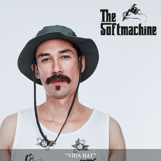 【SALE】 SOFTMACHINE(ソフトマシーン) VIDA HAT(ARMY HAT) 【2018SPRING/SUMMER新作】 【即発送可能】 【SOFTMACHINE ジャング