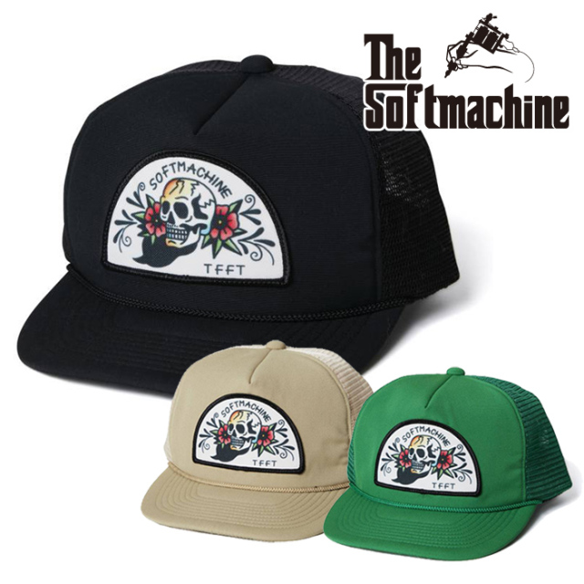 SOFTMACHINE(ソフトマシーン) VOO DOO CAP(MESH CAP) 【メッシュキャップ】【ブラック ベージュ グリーン タトゥー】【2021 SUMMER