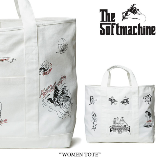 【SALE】 SOFTMACHINE(ソフトマシーン) WOMEN TOTE(TOTE BAG) 【2018SPRING/SUMMER新作】 【即発送可能】【送料無料】 【SOFTMA