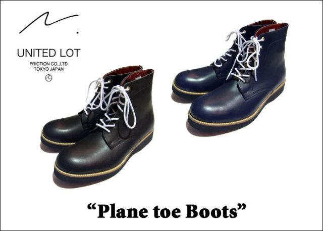【即発送可能】 UNITED LOT. Plane toe Boots(ブーツ) 【送料無料】【プレーントゥ ブーツ】  【OUT PUT】【out put アウトプッ