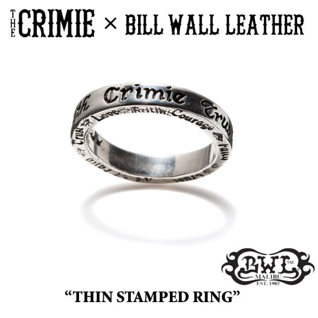 【WINTER予約商品】 CRIMIE(クライミー)×BILL WALL LEATHER BW THIN STAMPED RING 【送料無料】 【キャンセル不可】
