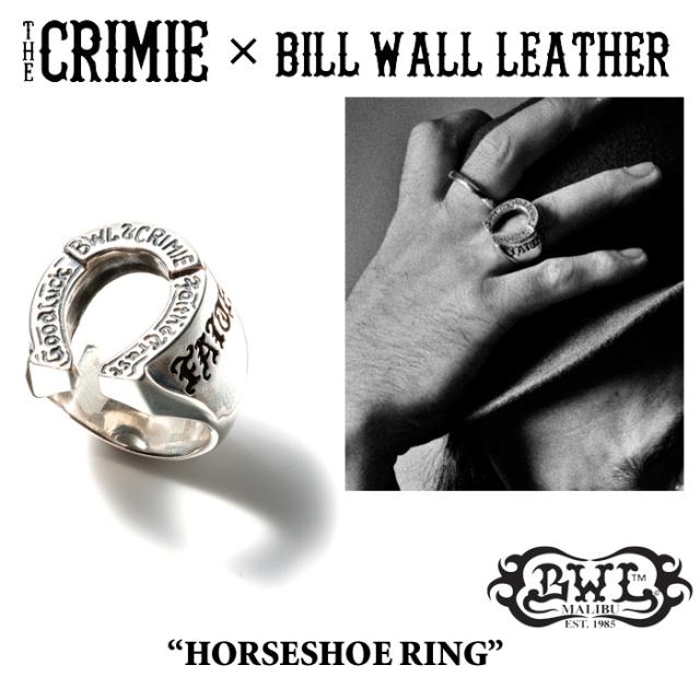 【WINTER予約商品】 CRIMIE(クライミー)×BILL WALL LEATHER HORSESHOE RING 【送料無料】 【キャンセル不可】
