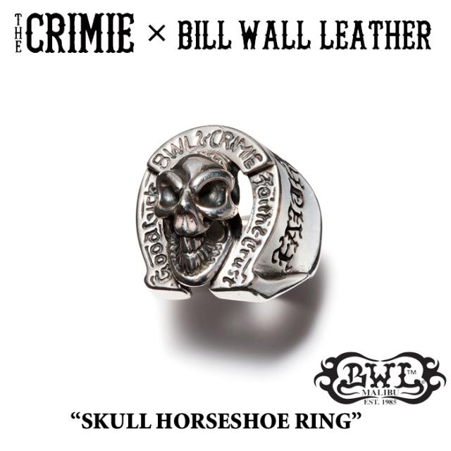 【SPRING予約商品】 CRIMIE(クライミー)×BILL WALL LEATHER BW SKULL HORSESHOE RING 【送料無料】 【キャンセル不可】