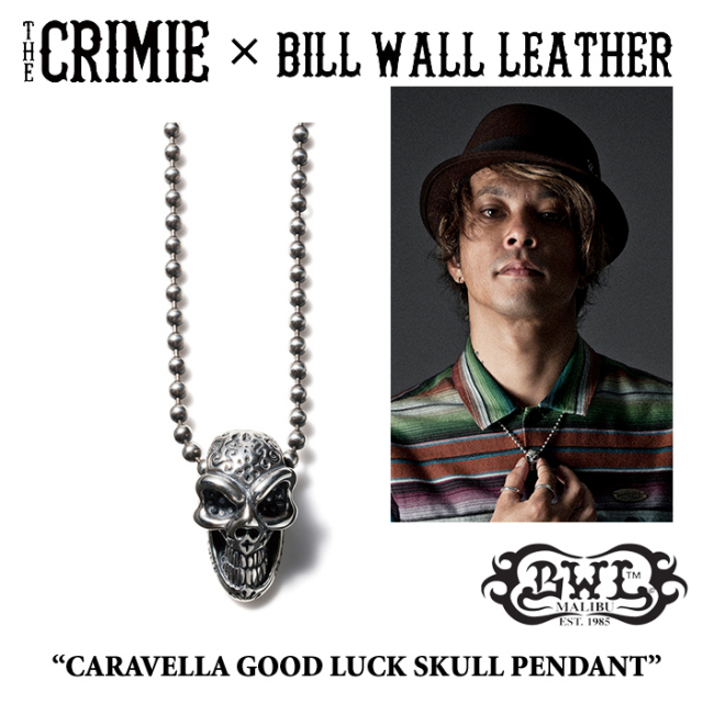 【SPRING予約商品】 CRIMIE(クライミー)×BILL WALL LEATHER CARAVELLA GOOD LUCK SKULL PENDANT 【送料無料】 【キャンセル不可