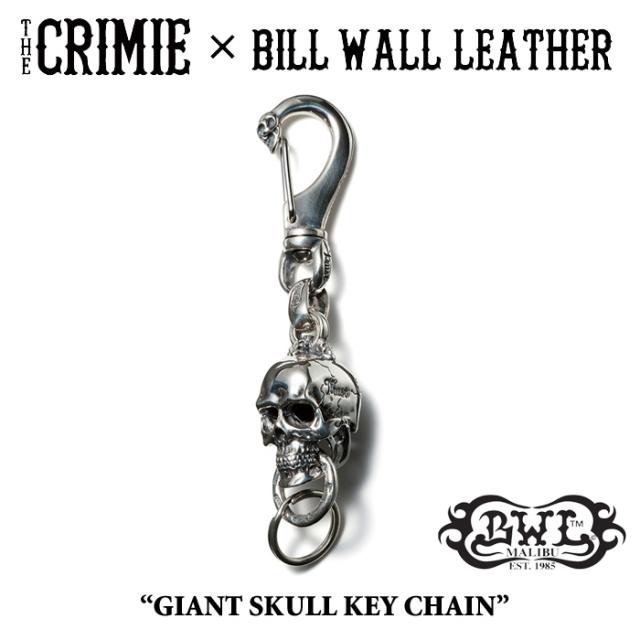 【WINTER予約商品】 CRIMIE(クライミー)×BILL WALL LEATHER GIANT SKULL KEY CHAIN 【送料無料】 【キャンセル不可】