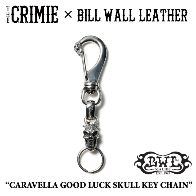 【WINTER予約商品】 CRIMIE(クライミー)×BILL WALL LEATHER CARAVELLA GOOD LUCK SKULLKEY CHAIN 【送料無料】 【キャンセル不可