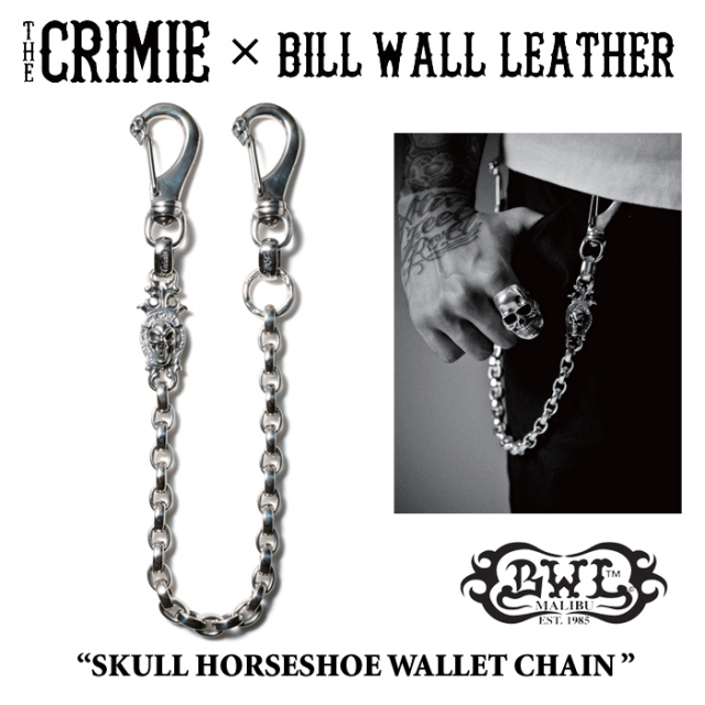 【WINTER予約商品】 CRIMIE(クライミー)×BILL WALL LEATHER SKULL HORSESHOE WALLET CHAIN 【送料無料】 【キャンセル不可】