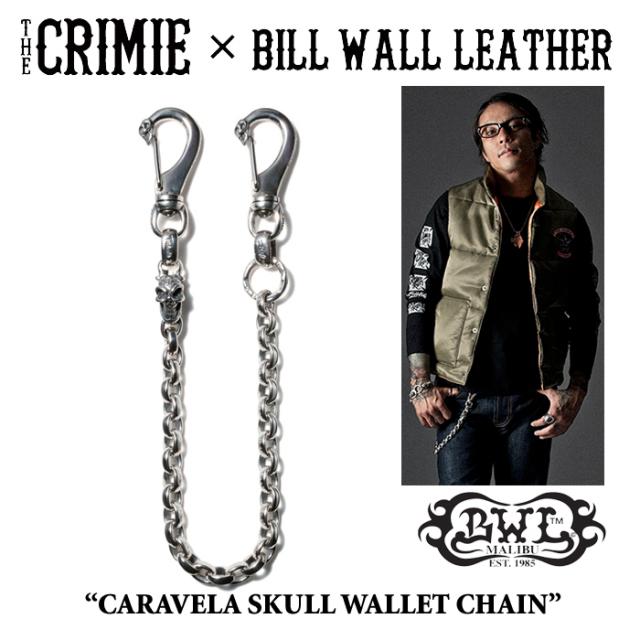 【WINTER予約商品】 CRIMIE(クライミー)×BILL WALL LEATHER CARAVELA SKULL WALLET CHAIN 【送料無料】 【キャンセル不可】