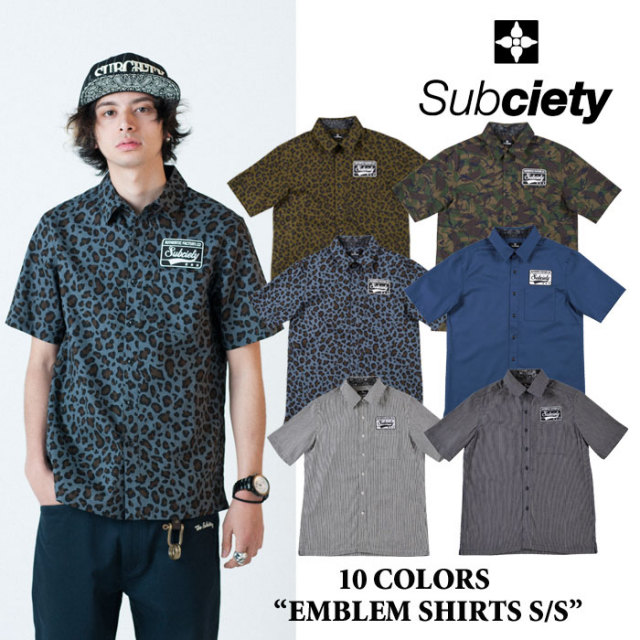 【SALE70%OFF】 SUBCIETY 【2014AUTUMN】 SUBCIETY(サブサエティ) EMBLEM SHIRTS S/S 【即発送可能】