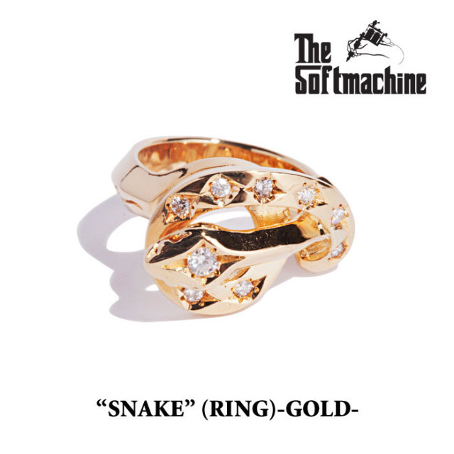 SOFTMACHINE(ソフトマシーン) SNAKE(GOLD RING) 【2019SPRING&SUMMER先行予約】【送料無料】 【SOFTMACHINE リング】