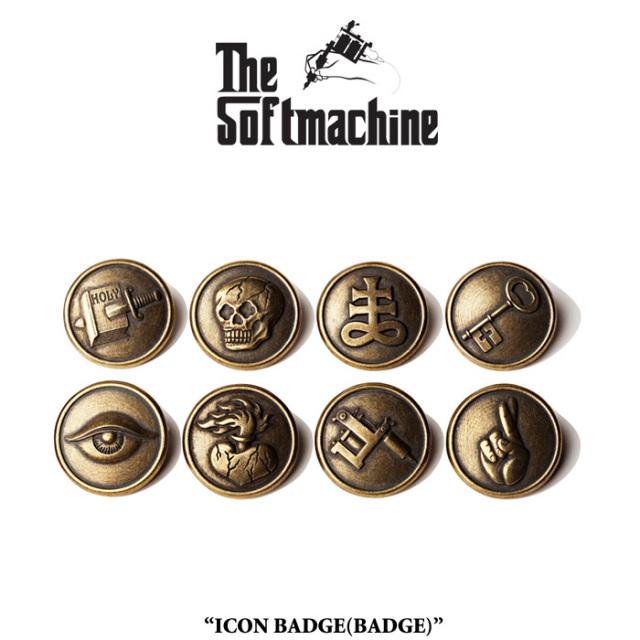 SOFTMACHINE(ソフトマシーン) ICON BADGE(BADGE) 【先行予約】【キャンセル不可】 【SOFTMACHINE(ソフトマシーン) バッジ】