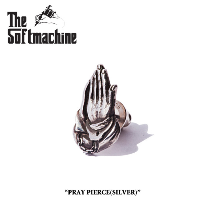 SOFTMACHINE(ソフトマシーン) PRAY PIERCE(PIERCE)(SILVER) 【2019SPRING&SUMMER 先行予約】【キャンセル不可】 【SOFTMACHINE(ソ