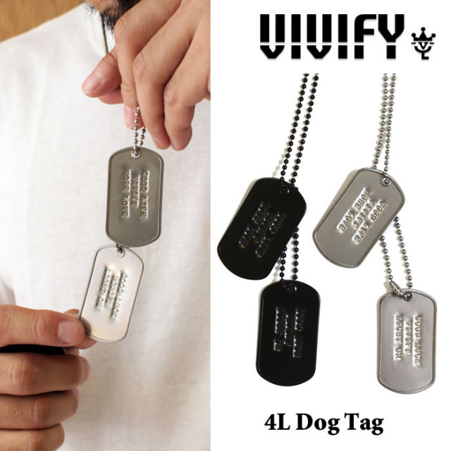 【2015 2nd EXHIBITION 先行予約】 VIVIFY(ヴィヴィファイ) 4L Dog Tag 【キャンセル不可】 【職人の完全手作業による逸品】