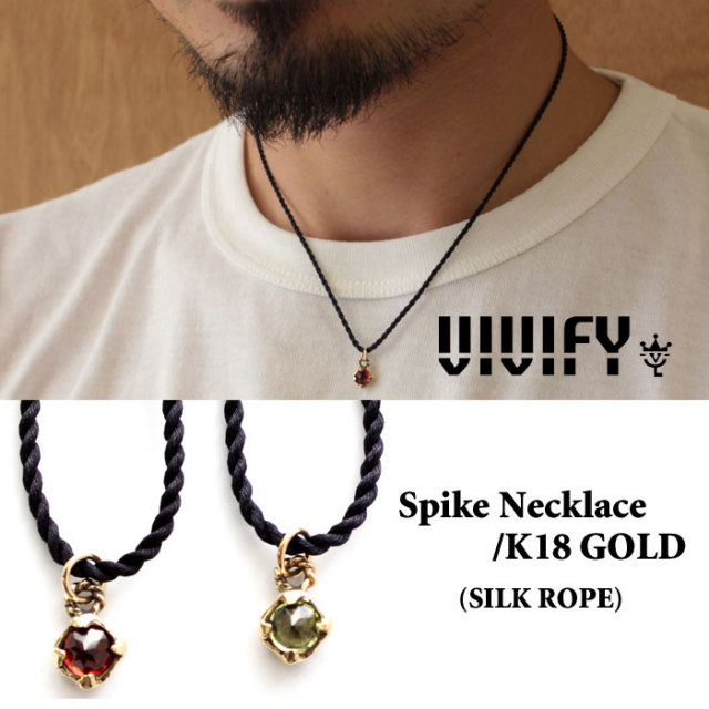 【2015 2nd EXHIBITION 先行予約】 VIVIFY(ヴィヴィファイ) Spike Necklace/k18gold 【送料無料】【キャンセル不可】 【職人の
