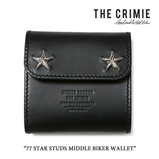 CRIMIE(クライミー) 77 STAR STUDS MIDDLE BIKER WALLET 【2017SUMMER先行予約】 【送料無料】 【CRIMIE ウォレット】【C1G1-CXM