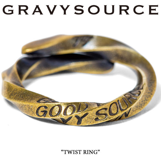 GRAVYSOURCE(グレイヴィーソース) TWIST RING 【即発送可能】 【GRAVYSOURCE(グレイヴィーソース) リング】 【GSRP-AC18】