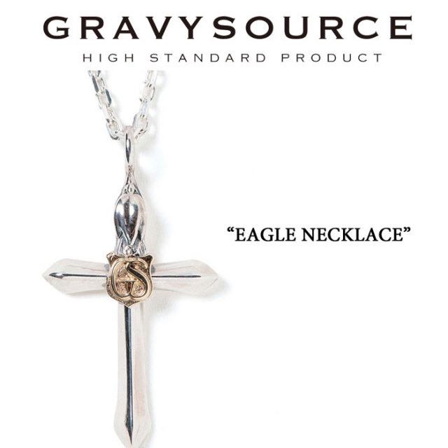 GRAVYSOURCE(グレイヴィーソース) EAGLE NECKLACE 【2019SUMMER/AUTUMN先行予約】【キャンセル不可】  【GRAVYSOURCE(グレイヴィ