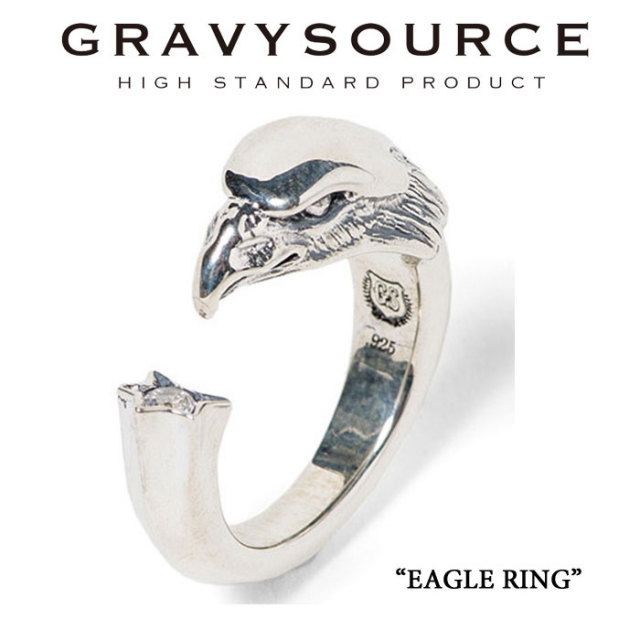 GRAVYSOURCE(グレイヴィーソース) EAGLE RING 【2019HOLIDAY/SPRING先行予約】【キャンセル不可】  【GRAVYSOURCE(グレイヴィーソ